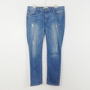 Paige Distressed Jimmy Jimmy Skinny Jeans - 31